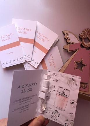 Набор пробников женская парфюмерия духи туалетная вода azzaro pour elle