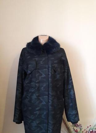 Зимнее пальто кокон ,утепленное 76% шерсти) пог 69 asos
