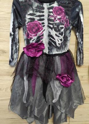 Детское платье, костюм ведьма, ведьмочка, смерть на 3-4 года на хеллоуин