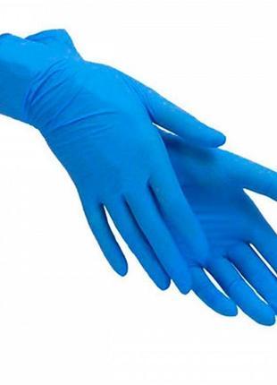 Перчатки нитриловые без пудры синие s, m, l, xl тм luximed