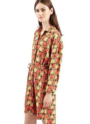 Платье-рубашка topshop (uk 12,р.m)