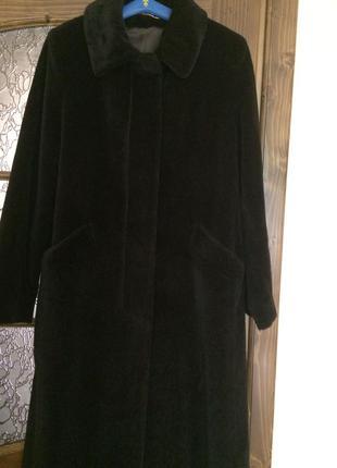 Зимнее пальто из альпака peter hahn м
