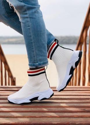 Кроссовки белые на платформе кроссовки носки