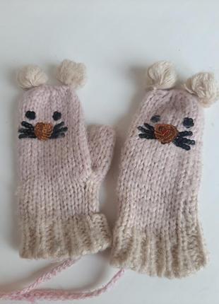 Варежки на 1-4года рукавички