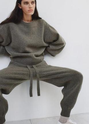 Теплий костюм zara knit розмір s