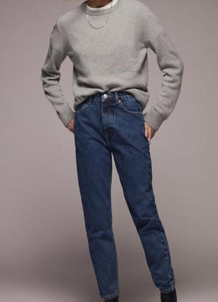 Zara mom мом джинсы темно синего цвета новая коллекция 36 40 42