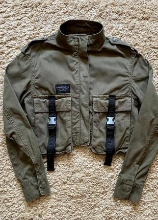 Укорочённый пиджак bershka xs