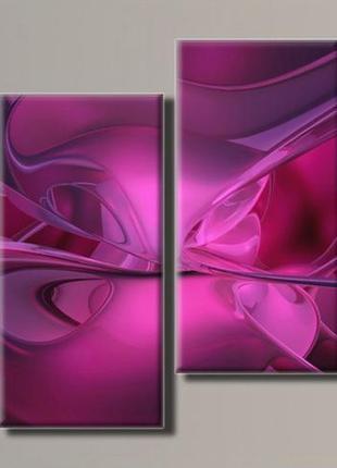 """Модульная картина """"абстракция 5"""" размер 56х103 см."""