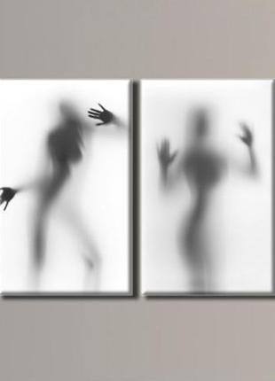 "Модульная картина ""женские силуэты"" размер 54х140 см"
