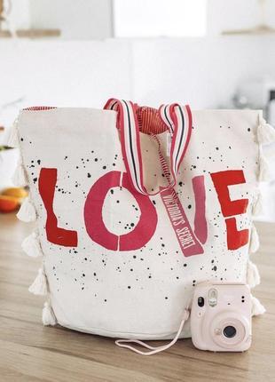 Пляжная сумка сумочка шоппер виктория сикрет оригинал