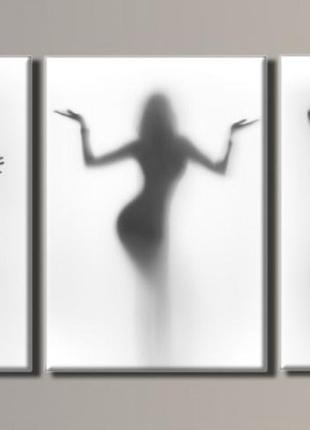 "Модульная картина ""женские силуэты 2"" размер 54х110 см"