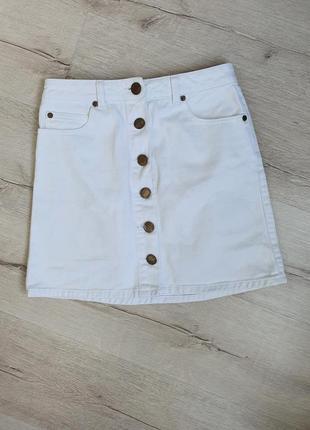Джинсовая юбка на пуговицах miss selfridge