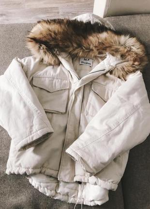 Тёплая куртка с мехом m.p. studios