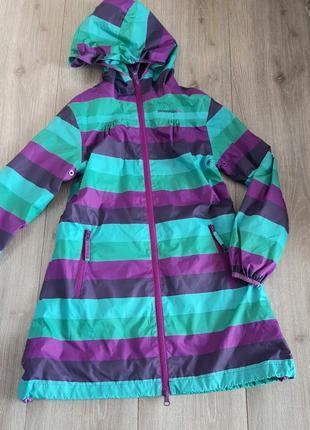 Ветровка дождевик куртка полосатая на возраст 7 -8 лет