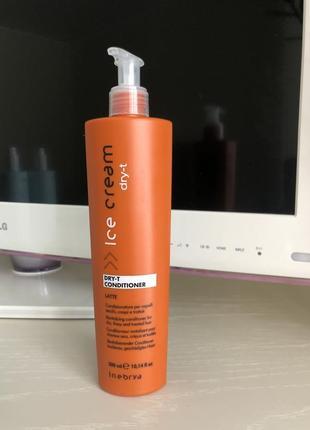 Кондиционер inebrya dry-t conditioner для сухих и поврежденных волос 300 мл