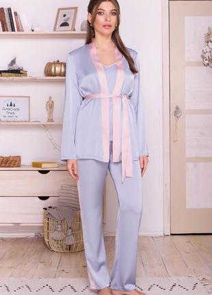 Домашняя одежда комплект тройка шелк армани