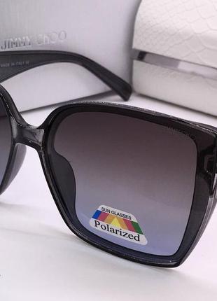 Jimmy choo очки женские солнцезащитные черные с фигурными дужками