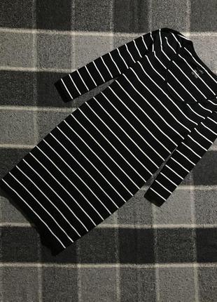 Женское короткое платье в полоску esmara ( эсмара с-мрр идеал оригинал черно-белое)