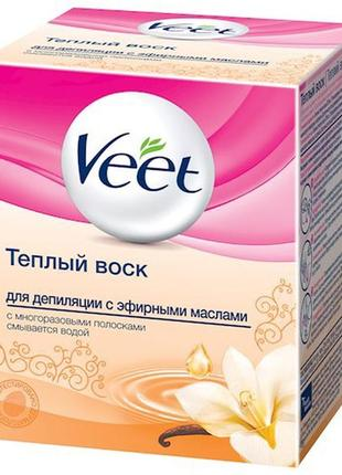 Тёплый воск для депиляции эфирными маслами veet 250 ml