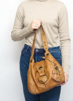 Кожаная сумка river island, натуральная кожа