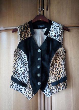 Леопардовая жилетка