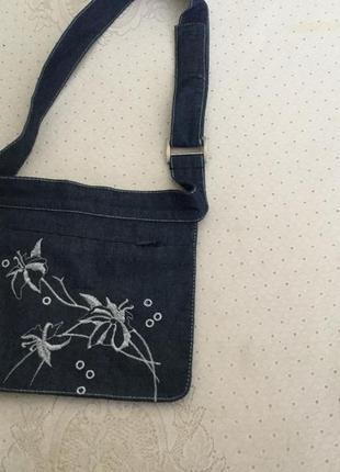 Джинсовая сумочка на пояс