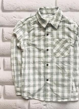 Zara стильная рубашка на мальчика 4-5 лет