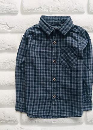 Zara стильная рубашка на мальчика 2-3 года