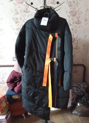 Пуфер пальто-ковдра оверсайз 50-52