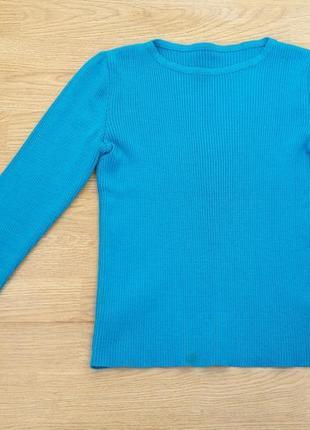Кофточка кофта лонгслив синяя, s-m 36-38