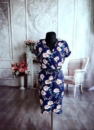 Стильное платье на запах