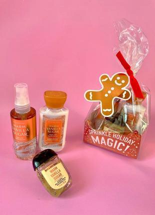 Подарочный набор bath&body works-warm vanilla sugar