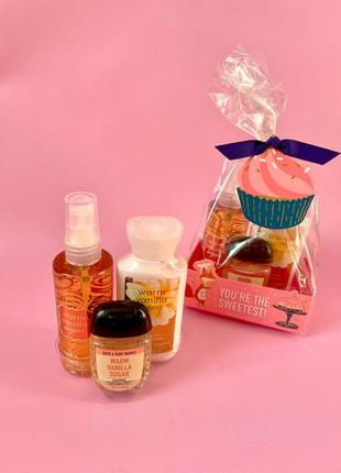 Подарочный набор bath&body works - warm vanilla sugar