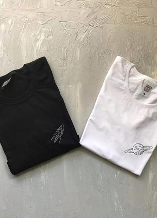 Парные футболки с принтом