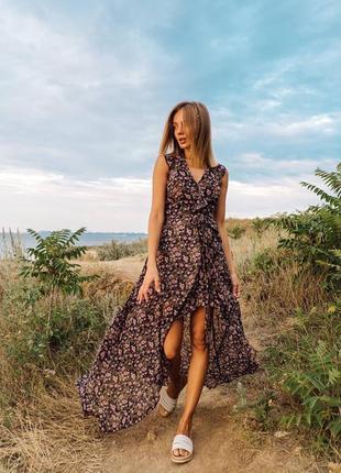 Красивое шифоновое платье на запах