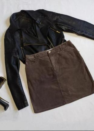 Юбка вельветовая стильная мини юбка