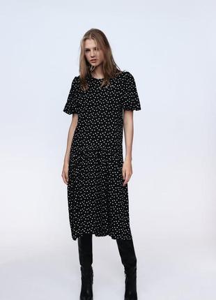Плаття сукня в горох zara
