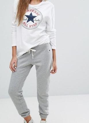 Оригинал спортивные штаны converse, серые свободные