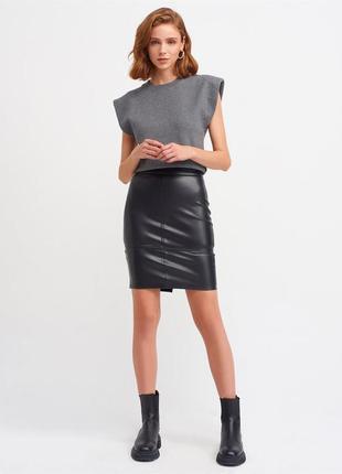 ❤_new_ в_наличии_! стильная юбка с эко-кожи !❤
