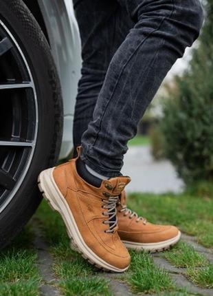 Мужские ботинки кожаные (зима)