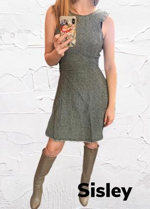 Маленькое серое платье sisley