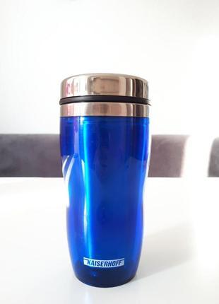Термокружка, синяя кружка kaiserhoff