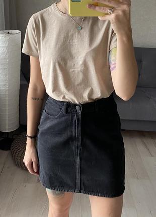 Базовая джинсовая мини юбка monki
