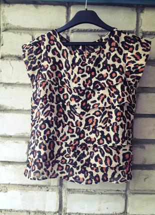 Шифоновая блуза, леопардовый принт