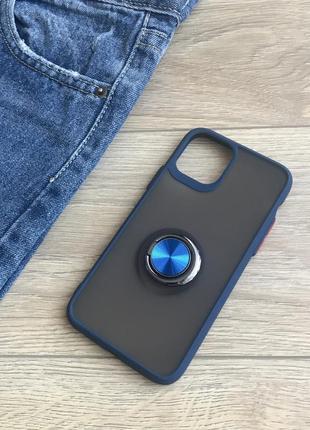 Чехол iphone  магнит + кольцо11 pro/