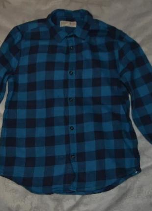 Байковая рубашка zara 8 лет рост 128