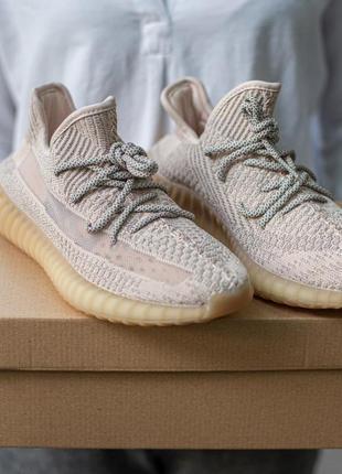 Женские кроссовки adidas yeezy boost 350 v2 pink all reflective