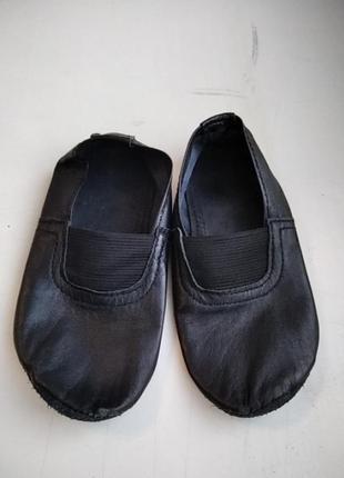 Чешки черные кожаные 27/28 размер 17,5 см стелька