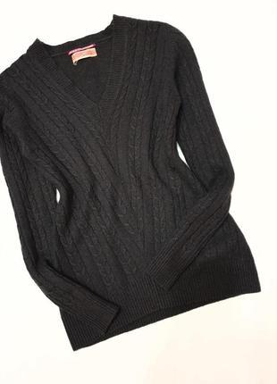 Hermit cashmere натуральный кашемир кашемировый  пуловер джемпер s косы