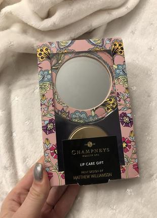 Champneys lip care gift набор комплект подарочный зеркало бальзам помада губ